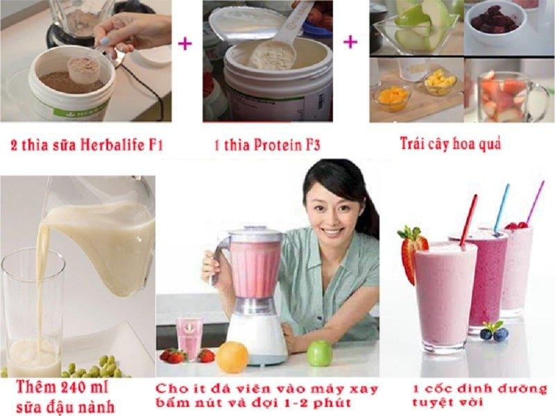 hướng dẫn pha sữa herbalife cho bé
