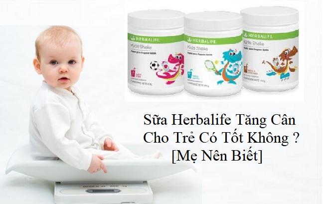 sữa herbalife tăng cân