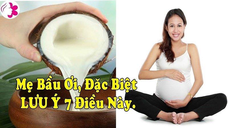 lưu ý khi uống nước dừa