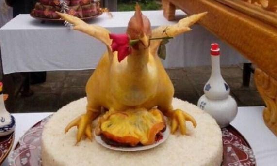 Cách buộc gà cúng đẹpkiểu gà bay