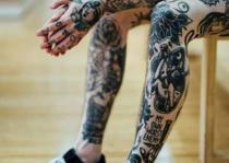 chân xăm hình Full Leg Tattoo