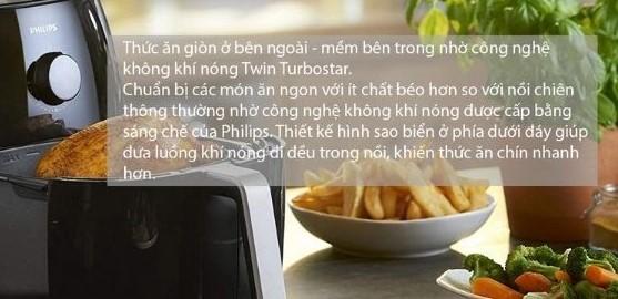 Công nghệ Twin TurboStar giúp thực phẩm vàng giòn mà không cần trở mặt ngay cả khi chất chồng lên nhau.