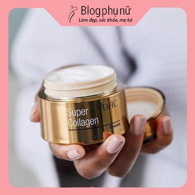 Kem dưỡng ẩm chống lão hóa của Nhật DHC Super Collagen Cream
