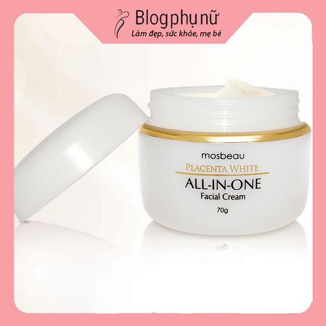 Kem dưỡng trắng da The Mosbeau Skin Whitening Placenta All-in-One Facial Cream Nhật Bản
