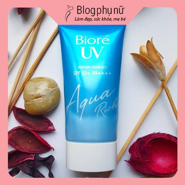 Kem chống nắng cho da dầu của Nhật Biore Aqua Rich Watery Essence