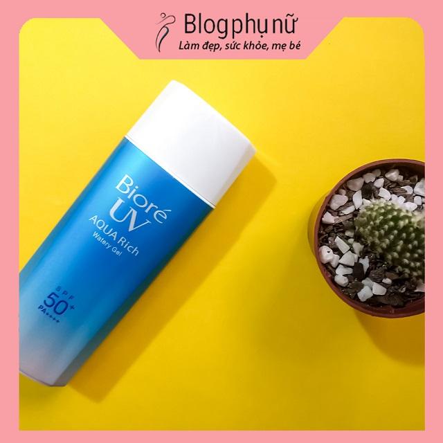 Kem chống nắng cho da dầu mụn Biore UV Aqua Rich Watery Gel