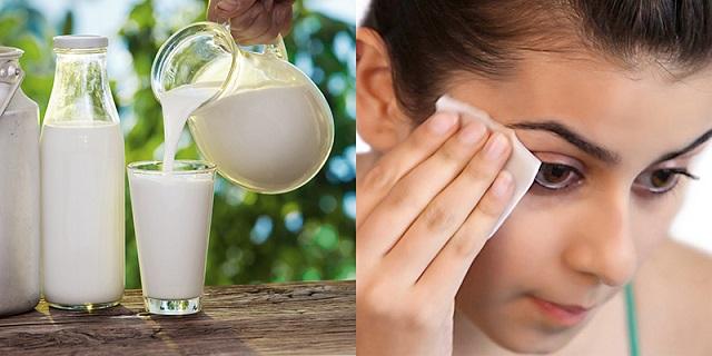 Cách rửa mặt bằng sữa tươi
