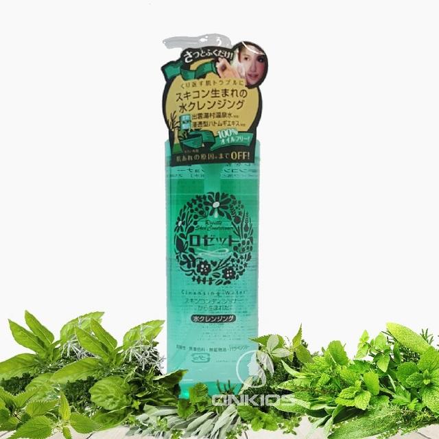 Cách tẩy trang đúng cách với nước tẩy trang cho da mụn Rosette Skin Conditioner Water