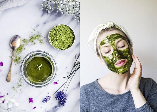 Mặt nạ bột trà xanh trị mụn thâm cho da nhạy cảm