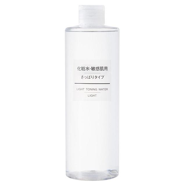 Nước hoa hồng cho da dầu mụn Muji Light Toning Water Light của Nhật