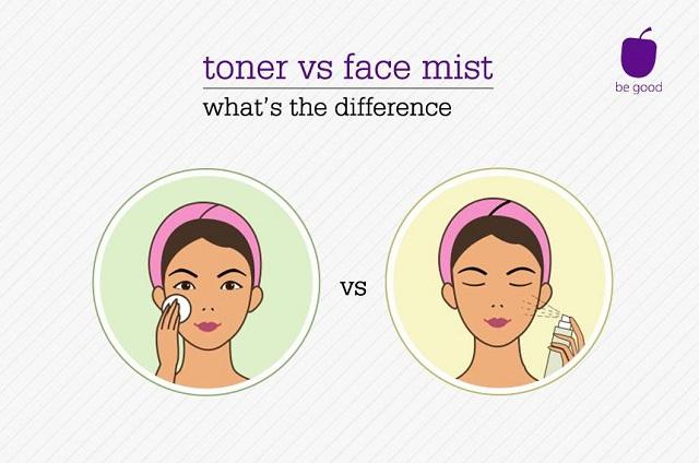 Phân biệt sự khác nhau giữa Face Mist - Toner